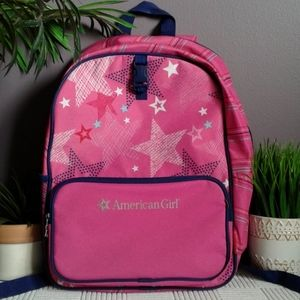 American girl full size pink school backpack.